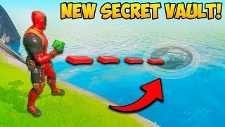 *NEW* SECRET WATER VAULT FOUND!! - Fortnite Funny Fails and WTF Moments! #874