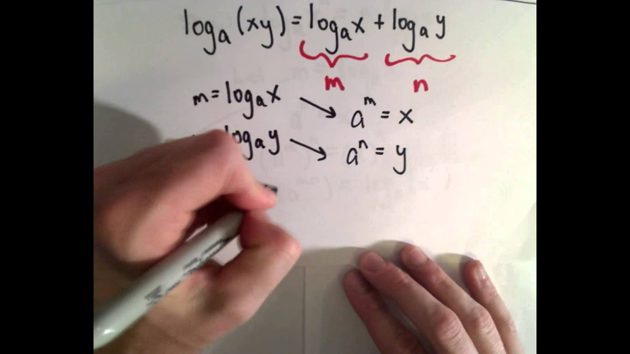 Proof of the Logarithm Properties - YouTube