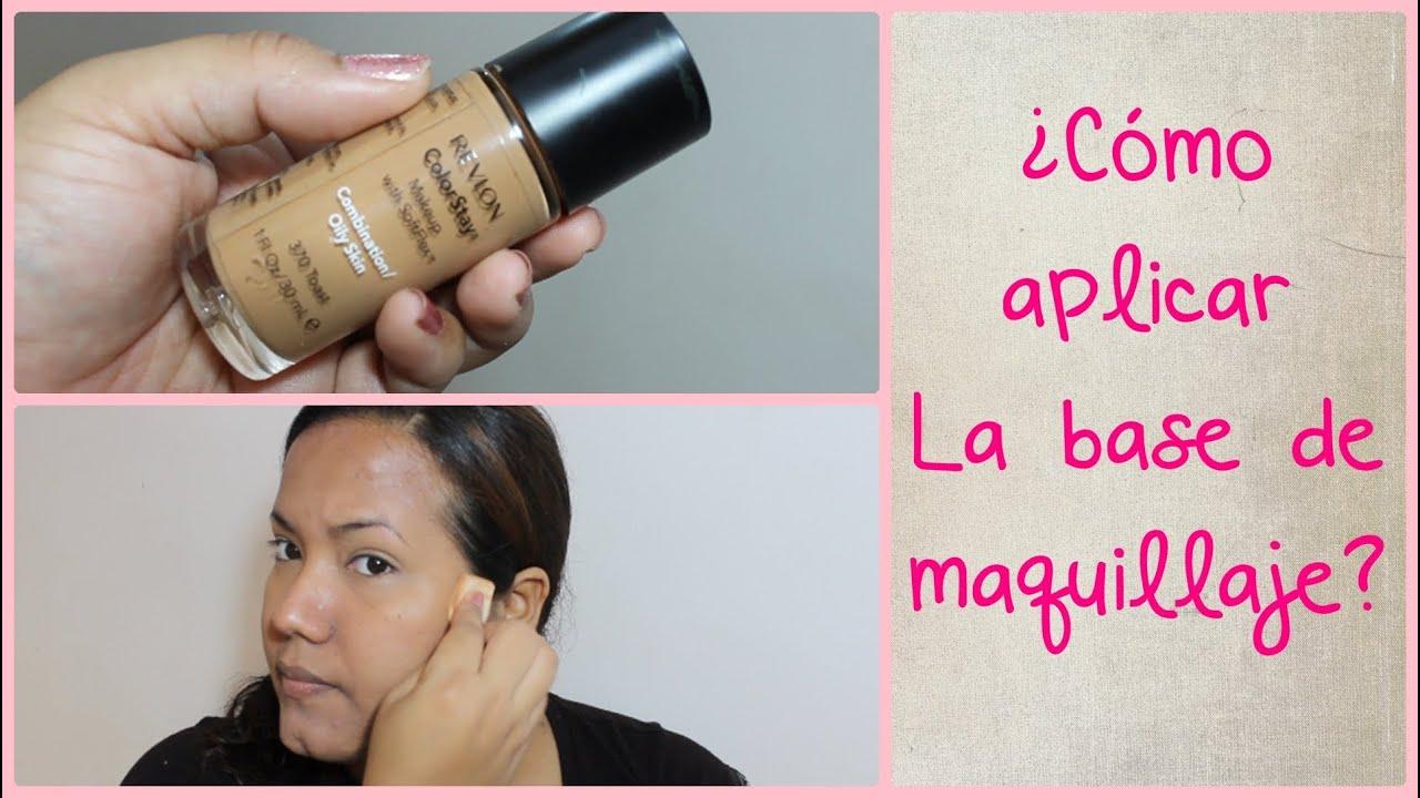 Como aplicar la base de maquillaje mi rutina my - Como aplicar el microcemento ...