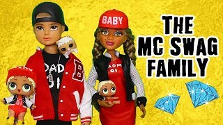 LOL Families ! The MC Swag Family Raps While Cooking ! Toys and Dolls Fun for Kids | SWTAD