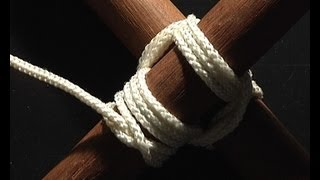 noeud brelage carré! square lashing knot!.mp4