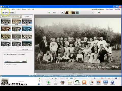 Manage family tree photos using TribalPages and Picasa