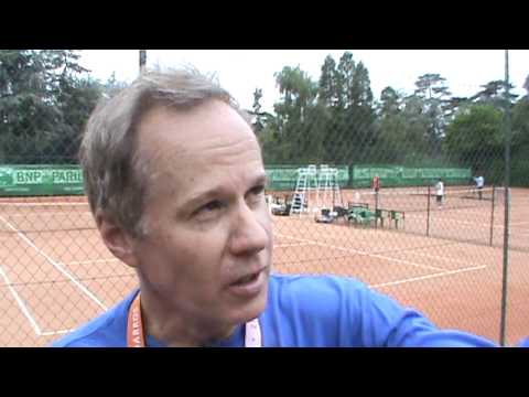 SchwedenTV: French-Open-Training, Patrick McEnroe, Ivan Lendl, Andy Murray, Arantxa Rus