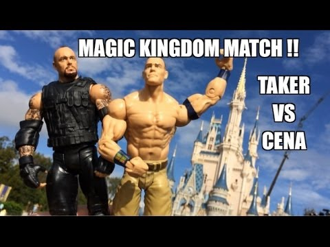 GTS WRESTLING: Disney Domination! WWE Mattel elite wrestling figure matches animation