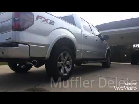 2012 Ford F150 5.0L Muffler Delete (before/after)