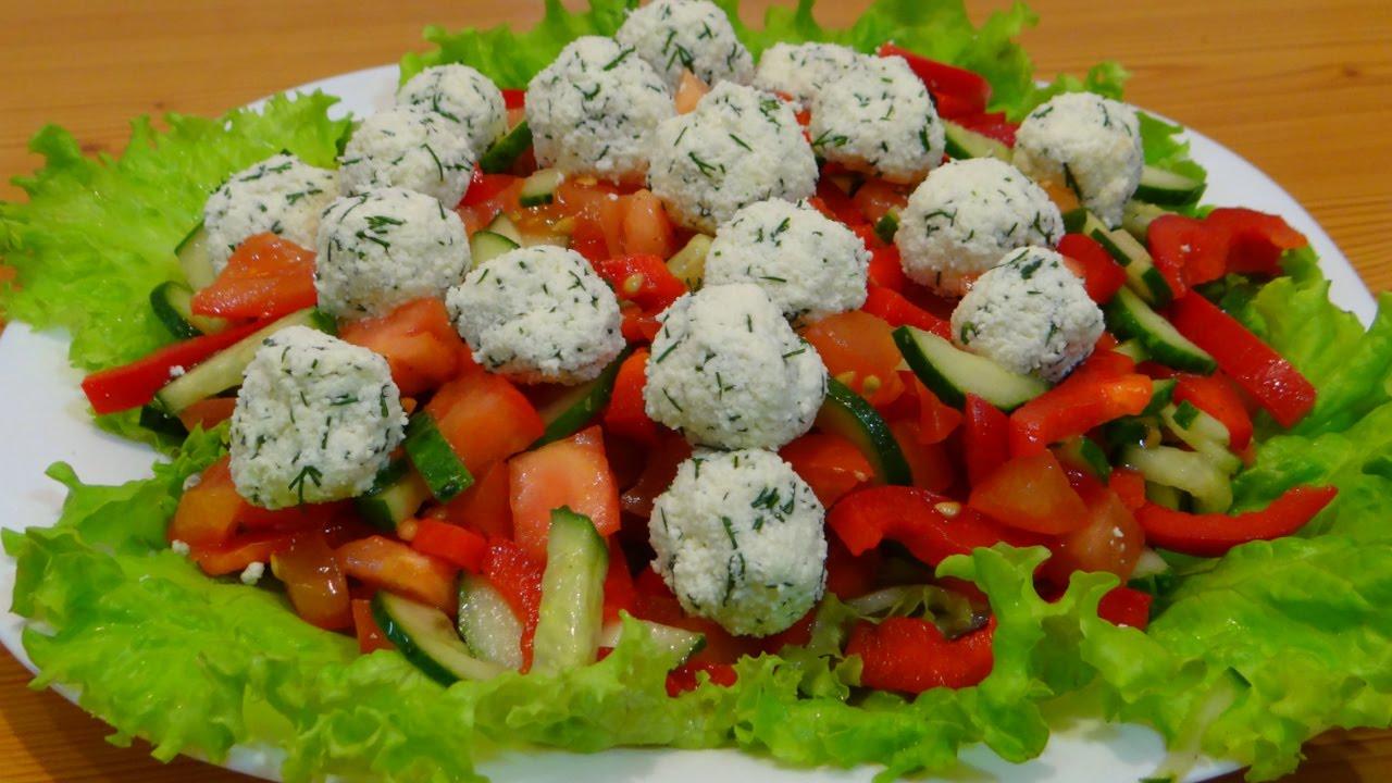 Лёгкие рецепты овощных салатов с простые и вкусные