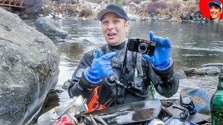 Found Vintage Camera Lost in River while Diving for Valuables!