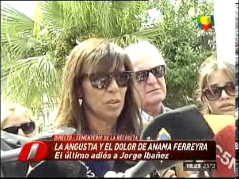 PRIMICIASYA.COM   Flor de la V, quebrada en el velatorio de Jorge Ibáñez