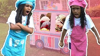 Fun Sisters Pretend Play Ice Cream Cart Truck