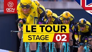 Tour de France 2019 Stage 2 Highlights: Brussels Team Time Trial | GCN Racing