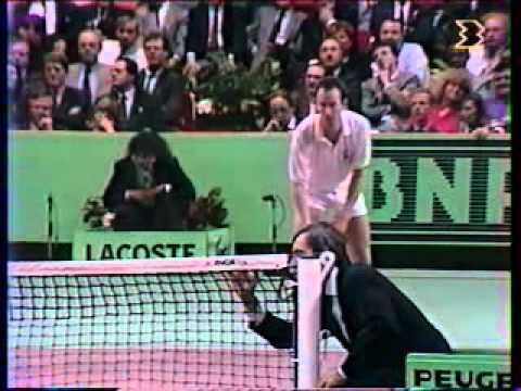 マイケル チャン vs マッケンロー - Paris 1989 - 08/10