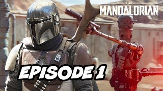 Star Wars The Mandalorian Episode 1 - TOP 10 WTF and Easter Eggs