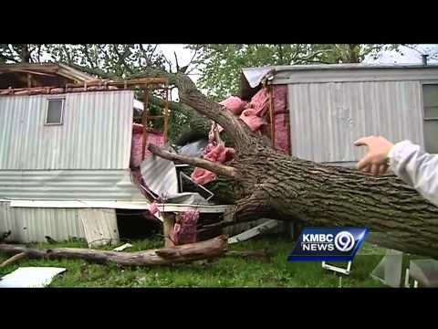 Storms cause damage in areas east of KC
