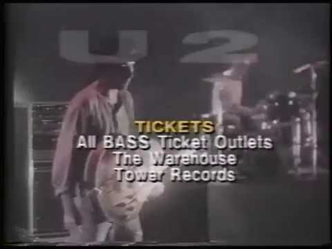 U2 1987 Day On The Green Concert Commercial