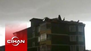 Fırtına çatıları Böyle Uçurdu