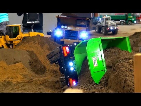 AWESOME RC TRUCK ACTION! CAT! MB Arocs! MAN! Scania! at Stonebreaker-Area!