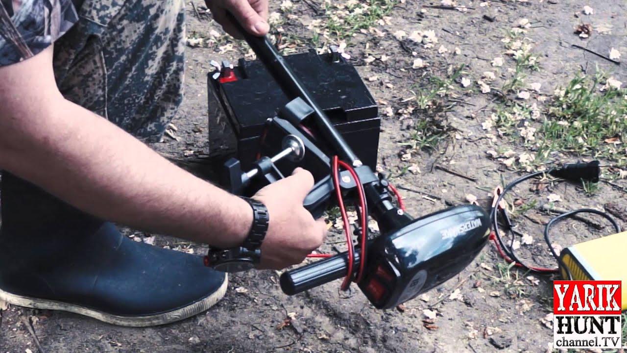 Электрический мотор для надувной лодки своими руками