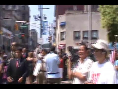 Izamiento de Bandera del Peru en Paterson