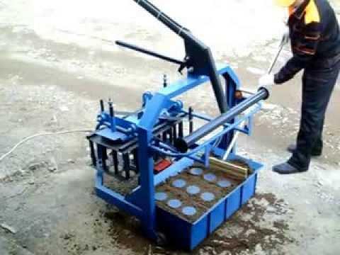 Самодельный шлакоблочный станок. Оборудование для производства шлакоблоков. Ga