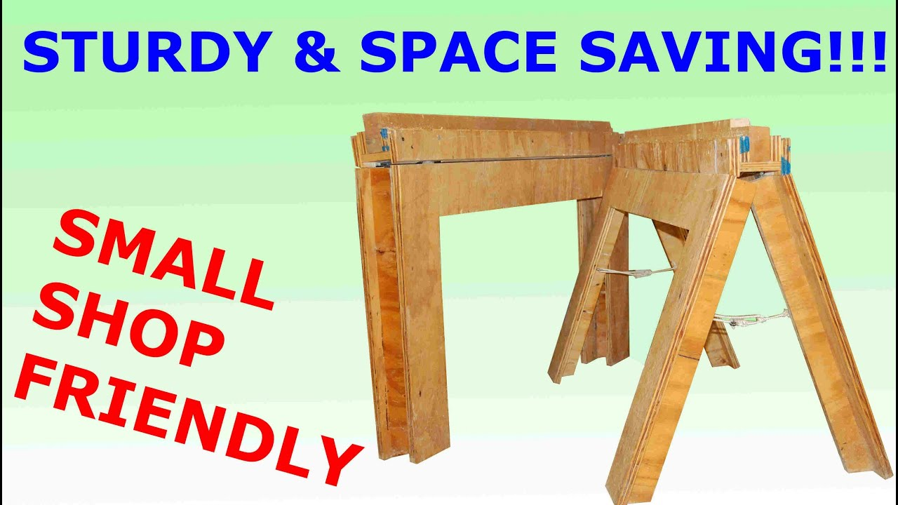 how to build folding sawhorses diy youtube. Black Bedroom Furniture Sets. Home Design Ideas