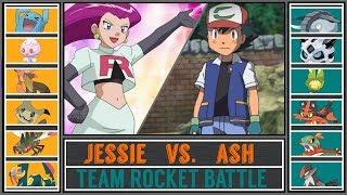 Ash vs. Jessie (Pokémon Sun/Moon) - Team Rocket Battle