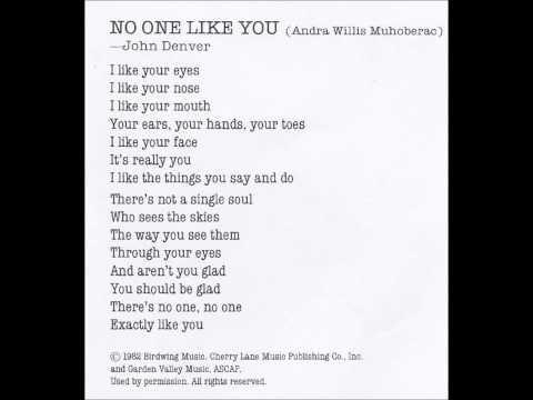 John Denver - No One Like You I Like Your Eyes
