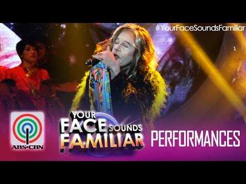 Your Face Sounds Familiar: Tutti Caringal As Steven Tyler - i Don't Want To Miss A Thing video