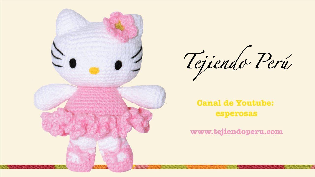 Amigurumi De Hello Kitty : Hello Kitty tejida a crochet (amigurumi) Parte 2: cuerpo ...