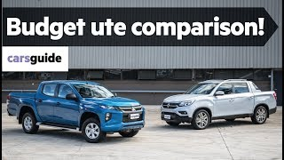 Mitsubishi Triton v SsangYong Musso comparison review
