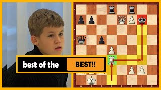 Carlsen Sacrifices His Pieces One After Another (Age 13)