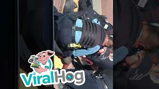 Chicago Police Tackle Man Wielding Golf Club || ViralHog