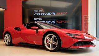 FIRST Ferrari SF90 Stradale in London START-UP REVS plus LaFerrari, F40 LM, Monza SP1, GTO, 250 GTO