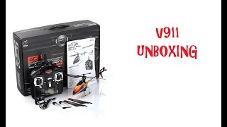 V911 RC Helicopter Unboxing