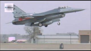 F-16 Block 40 Jets Taking Off - South Dakota Air National Guard