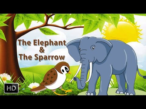 Tales of Panchatantra - Animated Cartoons - Kids - The Elephant & The Sparrow - Animal/Birds Stories