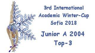 Academic Winter Cup Sofia 2018 - Junior A2004 - Top 3