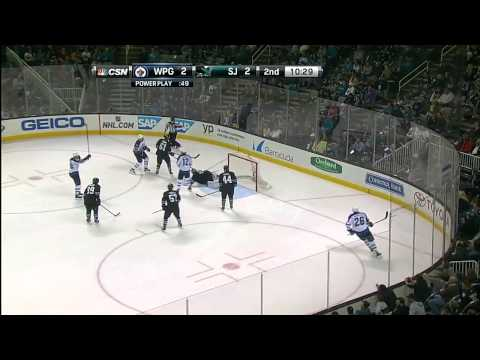 Winnipeg Jets vs  San Jose Sharks 27.03.2014
