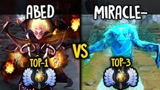 Abed Invoker vs Miracle- Morphling Insane Battle Fnatic vs Liquid Dota 2