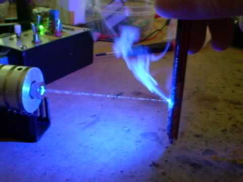 1W 445nm Blue Laser Burning Tests Video