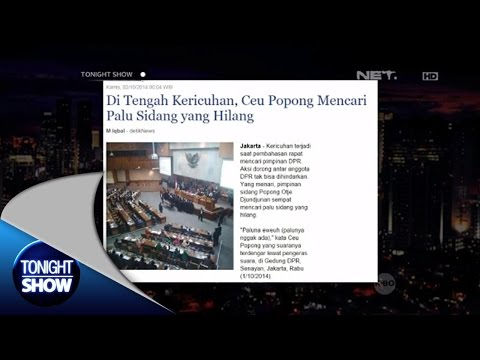 Tonight's News - Ceu Popong mencari Palu Sidang yang hilang