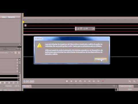 Tutorial Adobe Audition CS5.5 [configurar dispositivos entrada, salida y velocidad muestreo]