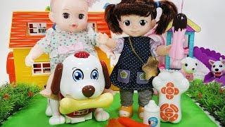 콩순이와 콩콩이 강아지 스마트 터치 펫 멍순이 뽀로로 장난감 인형놀이 Baby Doll Puppy Smart Touch Pet dog Toys