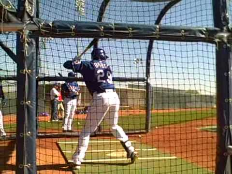 Julio Borbon takes batting practice Video