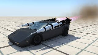 Strapping Saturn V Rockets To Cars - BeamNG.drive