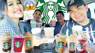 TRYING MY SUBSCRIBERS FAVORITE STARBUCKS DRINKS!