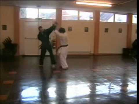 GOJU RYU KARATE - BROSELEY GOJUKAN CLUB TRAINING -  BLACK BELTS SPARRING. Image 1