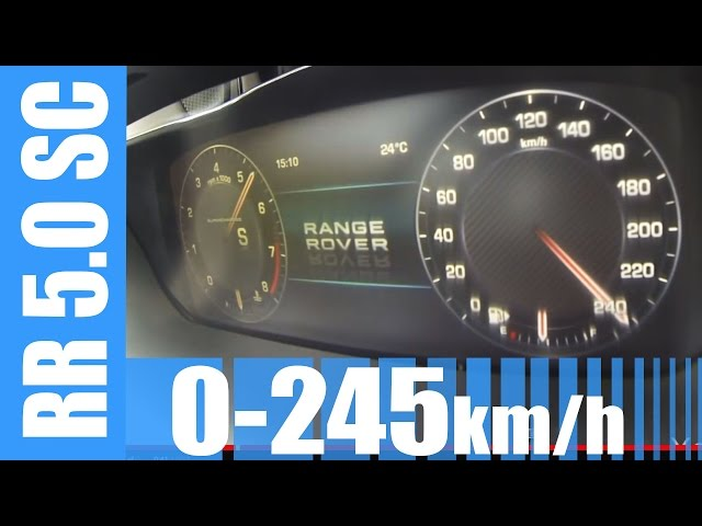 Range Rover 5.0 V8 Supercharged 510 HP 0-245 km ... - YouTube