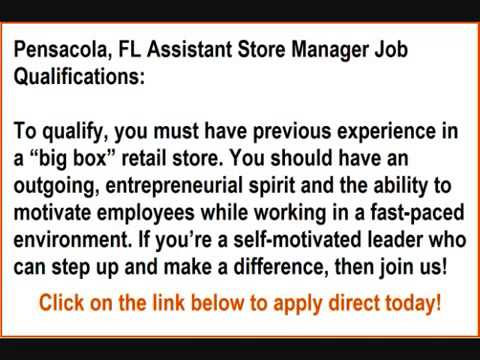Store management jobs in pensacola