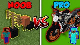 Minecraft NOOB vs. PRO: BIKE BATTLE in Minecraft!
