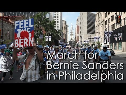 March for Bernie Sanders in Philadelphia: The whole crowd, from beginning to end